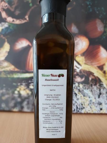 Rieser Hazelnut Oil 0,25L