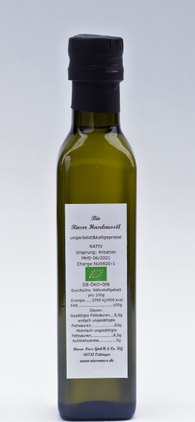 Rieser Bio Haselnussöl 0,10L